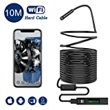 Snake Camera WiFi,Gruper Wireless Endoscope Inspection Camera 2.0 Megapixels HD WiFi Borescope Camera Android iPhone,iOS Smartphone,Tablet,Ipad (Color: Black-10m)