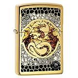 Zippo Lighter: Anne Stokes Dragon, Fusion - High Polish Brass
