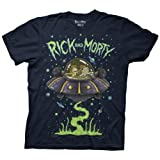 Ripple Junction Rick and Morty Ship Dumping Mens Navy T-Shirt XL (Color: Navy, Tamaño: X-Large)