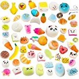 Random 10pcs Slow Rising Kawaii Squishy Medium Mini Soft Bread Toys Panda Buns Cake Cute Face Charm Stress Relief Squeeze Food Phone Straps