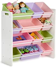 Honey-Can-Do SRT-01603 Kids Toy Organizer and Storage Bins WhitePastel