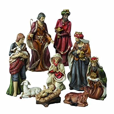 Kurt Adler Porcelain Nativity Figures Table Piece 9-Inch Set of 9