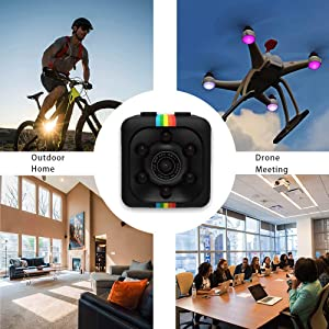 Mini Spy Hidden Camera, Full HD 1080P Smallest Spy Body Camera with Night Vision and Motion Detection, Wireless Nanny Cop Cam for Home Security Monitoring, Action Cam with Loop Recording, No WiFi Need