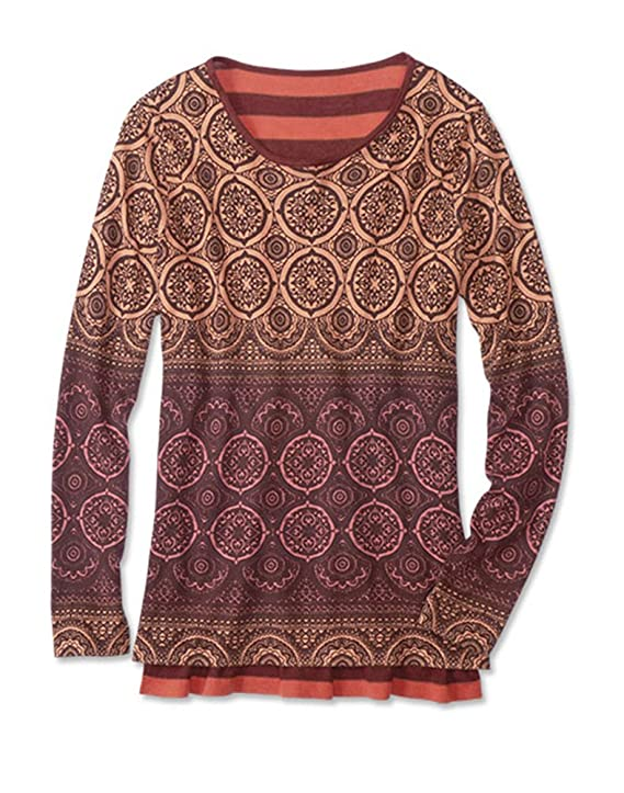 Orvis Women's Spice Print Mixed Media Sweater