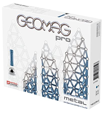 Geomag - 6955 - Jeu de Construction - Coffret de Geomag Pro - Métal - 44 Pièces