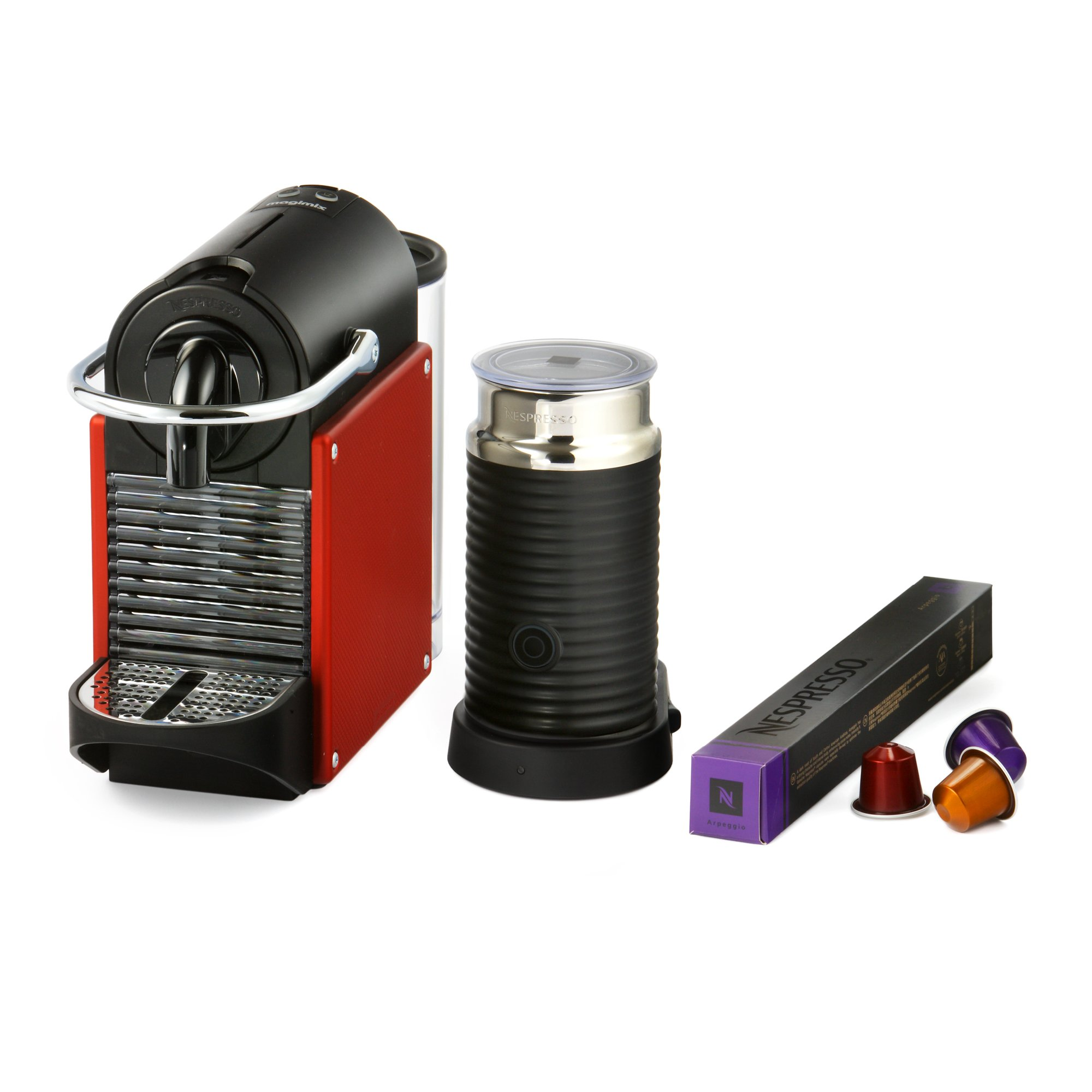magimix nespresso pixie coffee machine with aeroccino. Black Bedroom Furniture Sets. Home Design Ideas