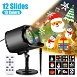 Christmas Projector Lights, 2-in-1 Moving Patterns with Ocean Wave LED Landscape Lights Waterproof Outdoor Indoor Xmas Theme Party Yard Garden Decorations (Tamaño: 9.3 x 7.8 x 5.3 inches)
