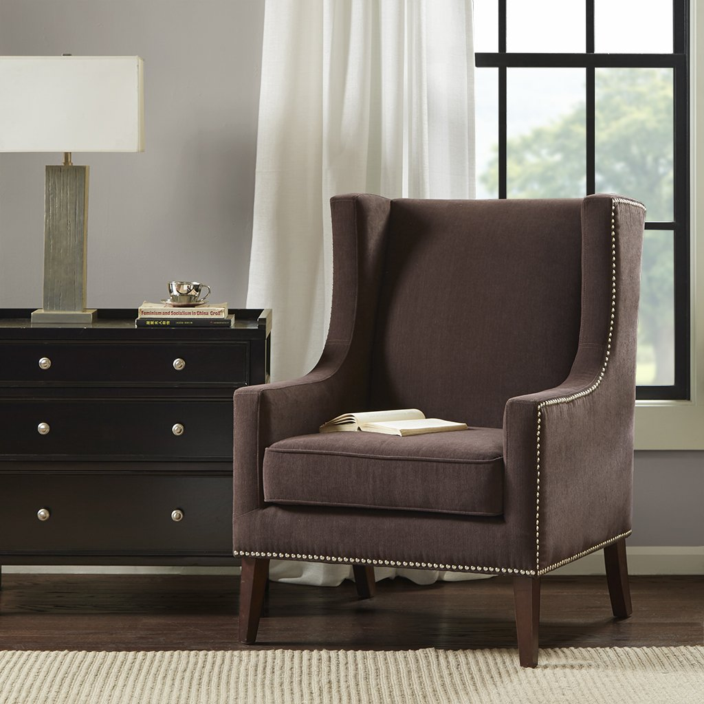 Barton Wing Chair Brown/Espresso See below