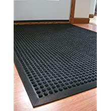 Durable Coporation Polyester Stop-N-Dry Abrasion Resistant Mat, for Indoors and Vestibules, Charcoal