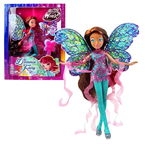 World of Winx - Dreamix Fairy - Layla Aisha Poupée 28cm avec Robe Magique