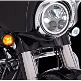 Fang Front LED Signal Light Inserts (Chrome) (Color: Chrome)