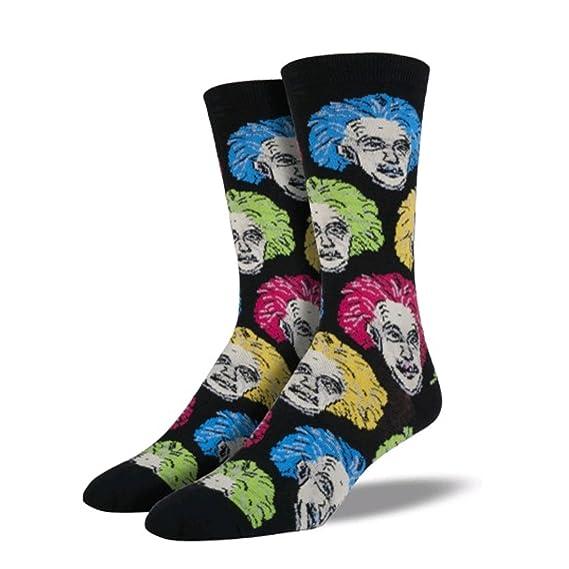 Socksmith Men's Socks Einstein Crew Black/White 1pair