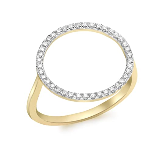Carissima Gold 9ct Yellow Gold Diamond Circle Ring