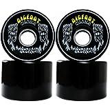 Bigfoot Longboard Wheels 80A SHR Mountain Cruisers, Black, 76mm