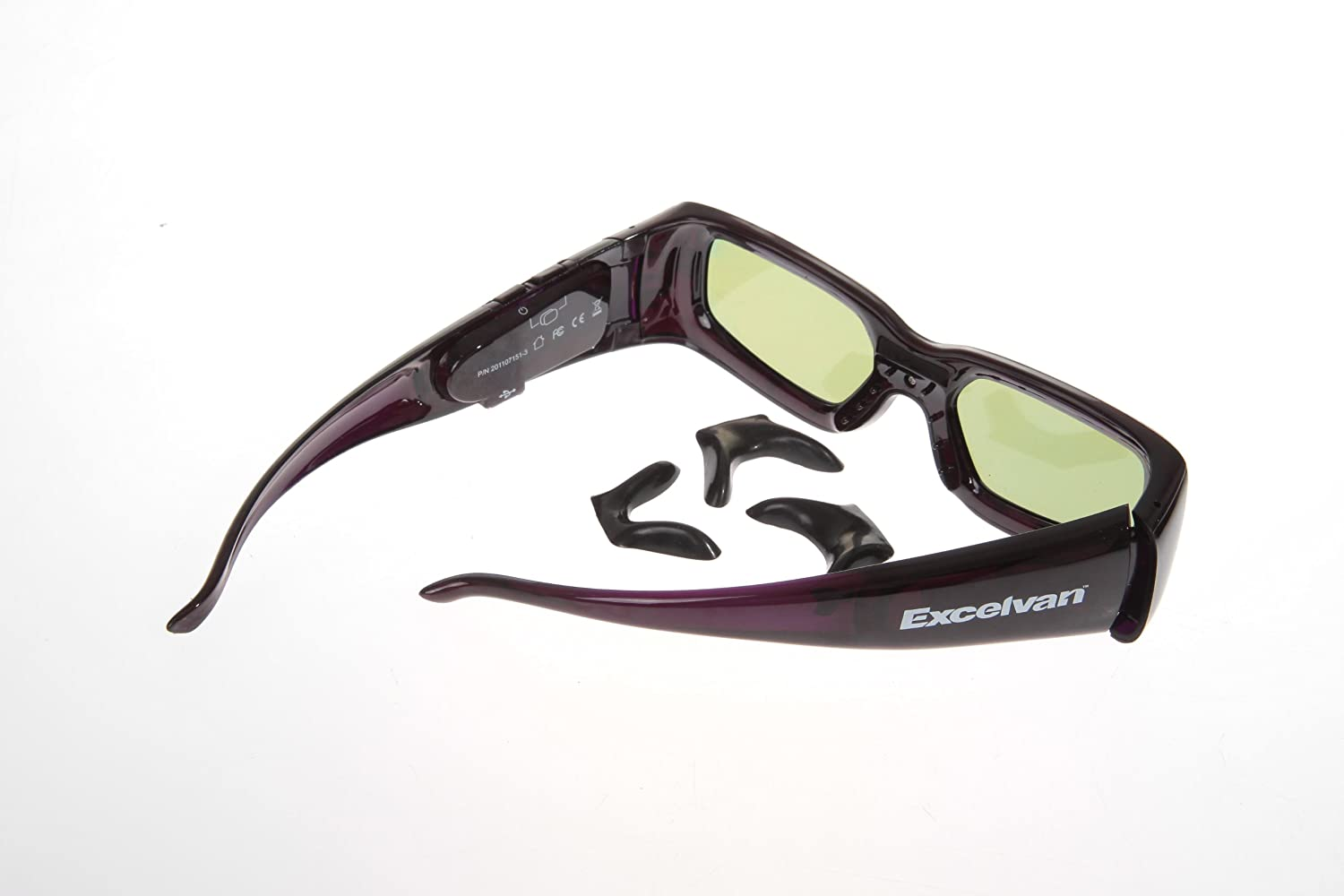 Excelvan 2 pairs 3D Active Glasses For NIB 2011 SONY TDG-BR250 Rechargeable sony tdg br250 3d очки