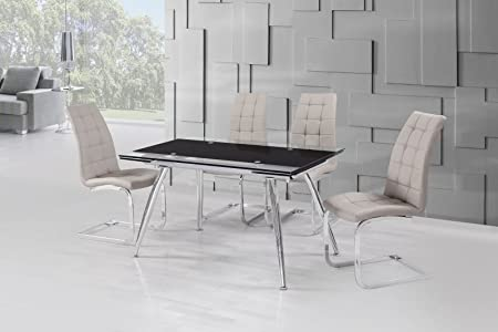 Micha (175cm) Dining Table Black