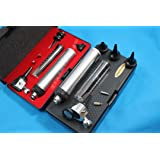 New Otoscope Set ENT Medical Diagnostic Surgical Instruments () + 2 Free Replacement Bulb (CYNAMED Brand)