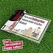 """Klingelschild """"Anti-Freiburg"""" Schützt Haus & Hof vor Freiburg-Fans. Achtung: Witziges Geschenk für alle Stuttgart-, KSC- und alle Fußball-Fans, Freunde, Kollegen, Geburtstage und Partys - Klingelschilder, Büroschilder, Türschilder, Warnschilder, Hund"""