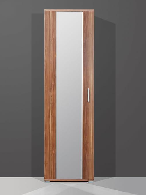 Tablas de armario ropero Portici con diseño de espejo de pared en 2 coloures