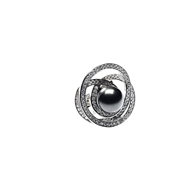 Your Diamonds Pearls Flamboyant Ladies Ring Love, Size 54
