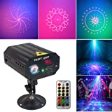 Party Lights Dj Disco Lights TONGK Strobe Stage Light Sound Activated Multiple Patterns Projector with Remote Control for Parties Bar Birthday Wedding Holiday Event Live Show Xmas Decorations Lights (Color: LED black)
