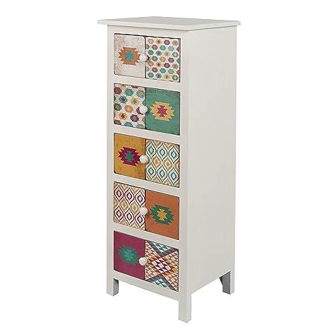 Mueble auxiliar 5 cajones papel pvc 2 45x35x101 1 diseño