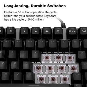 Velocifire Tenkeyless Mechanical Keyboard Mini, 78-Key Compact Ergonomic, Outemu Brown Switches Backlit and Double-Shot ABS Keycaps for Copywriter, Typist and Programmer (Color: wired)