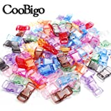 100 Pack Assorted Clear Colorful 3/8