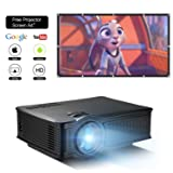 DOACE P1 HD 1080P Video Projector with Portable Screen 84