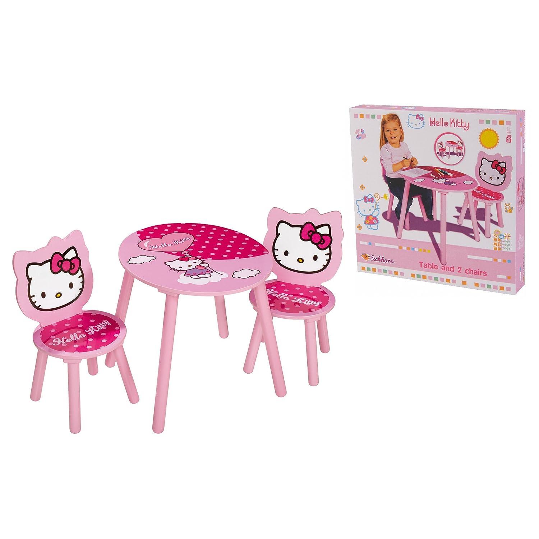 Juego de mesa y dos sillas de hello kitty por 36 08 for Juegos de hello kitty jardin