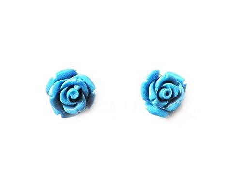 Rose Earrings Amazon Turquoise Rose Earrings