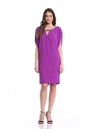 Laurèl Damen Kleid, 12112 Einfarbig, GR. 38 (38), Violett (Magenta)