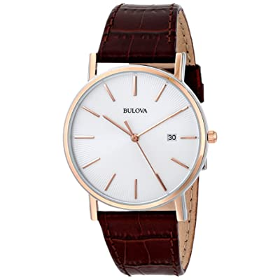 Bulova Men's 98H51 Leather Dress Watch