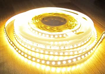 30CM STRISCIA FLESSIBILE STRIP LED 3528 12V IP33 GIALLA AMBRA YELLOW AMBER