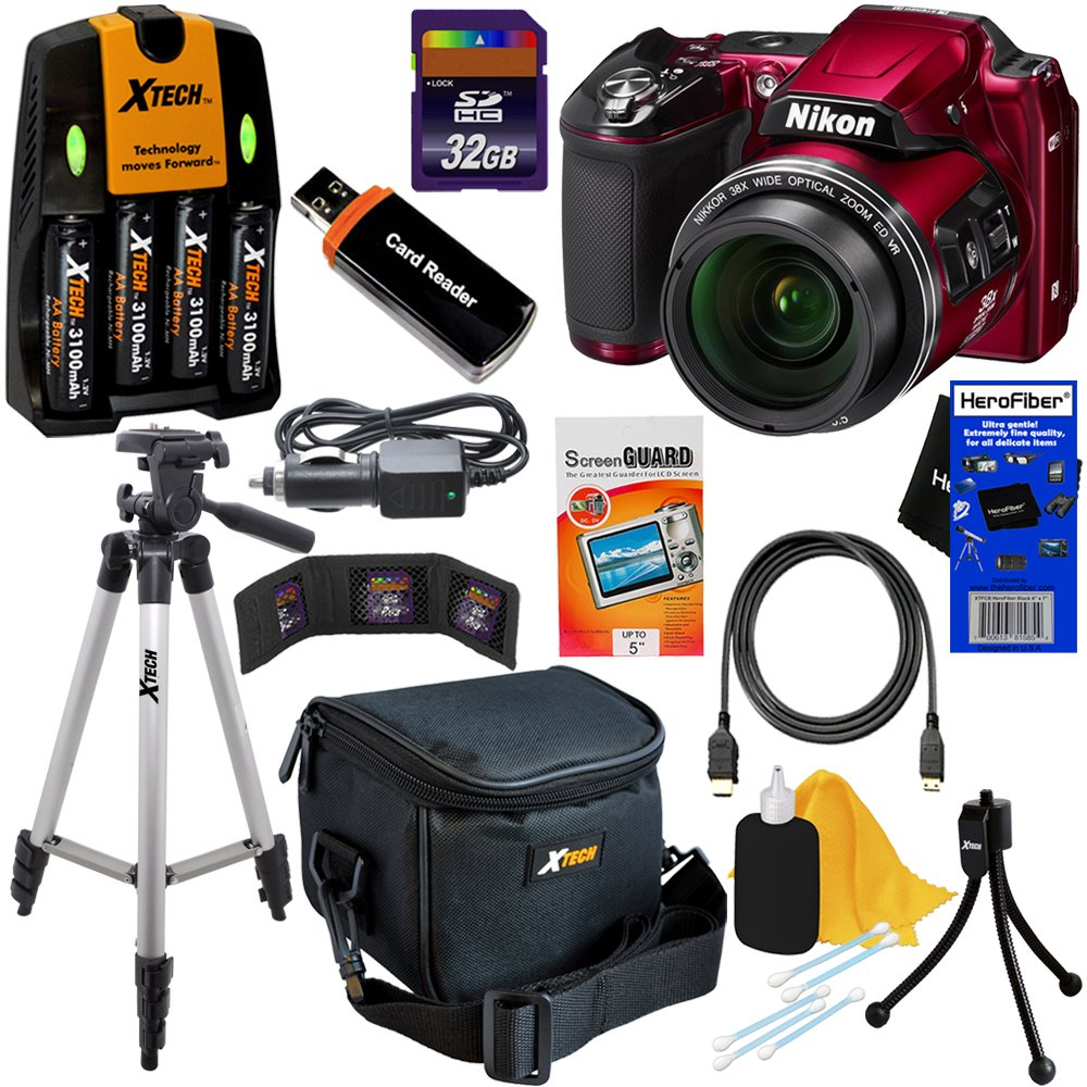 Nikon COOLPIX L840 16 MP CMOS Digital Camera with 38x Zoom NIKKOR Lens, HD Video & and Built ..