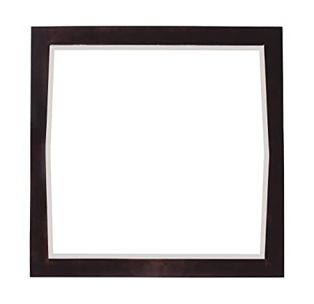 American Imaginations 401 34-Inch by 34-Inch Square Wood Framed Mirror, Antique Walnut Finish