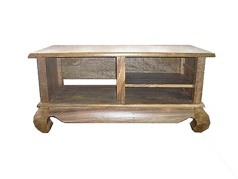 Supporto per TV/Plasma tavolo intrattenimento Unit luce Mango mobili in legno massiccio