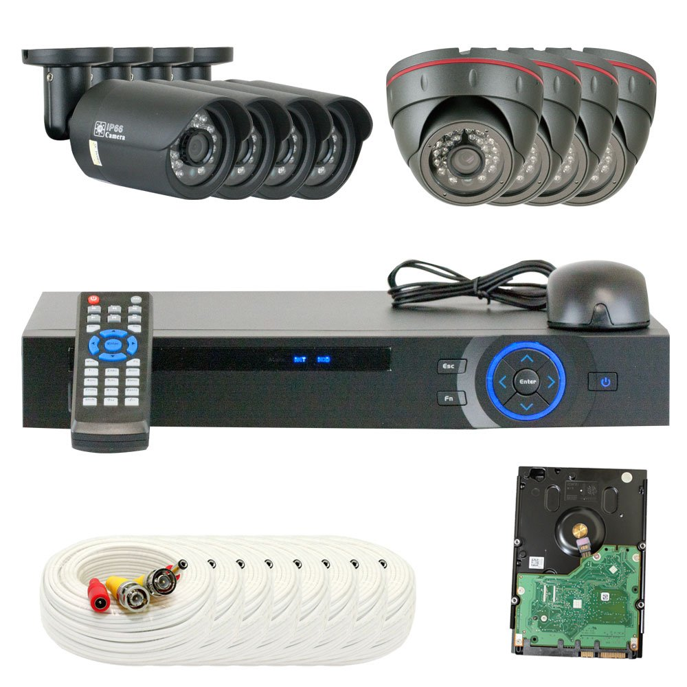 8 Channel Dvr Hd 2 0mp 1080p Hd Cvi Outdoor Indoor Home Security Camera System Ebay