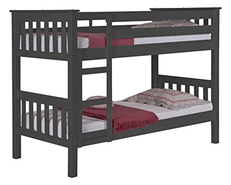 Design Vicenza Barcelona Long Bunk Bed 3ft Graphite