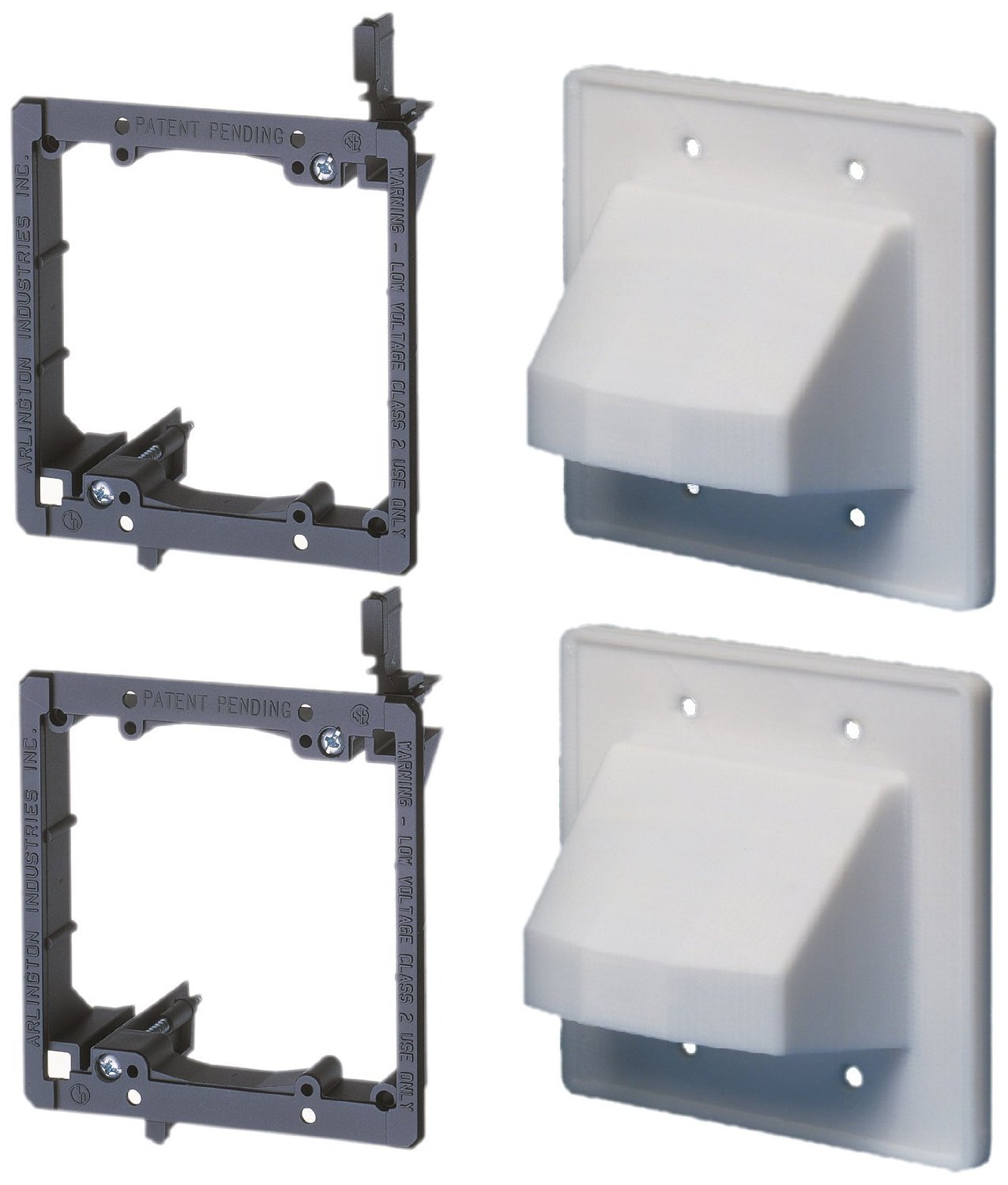 Cable Wall Plate : Arlington industries lvce low voltage mounting bracket