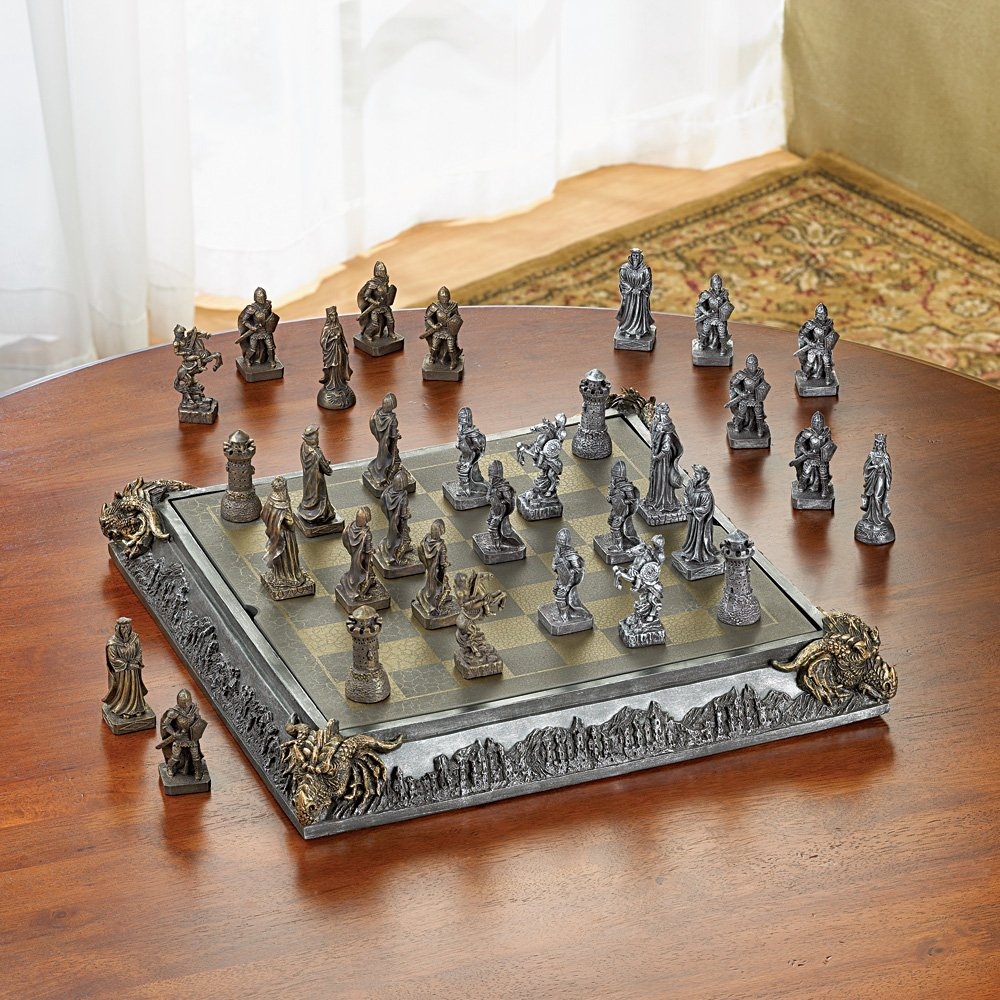 This medieval wooden chess set makes a unique 5th wedding anniversary if your spouse plays chess.