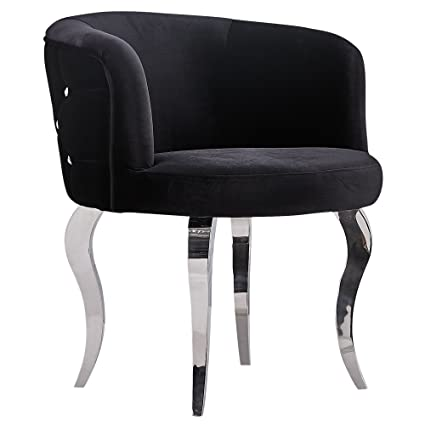 Barock Stuhl Sessel Barockstuhl Barocksessel Glamour Sitzmöbel Schwarz (Weiss)