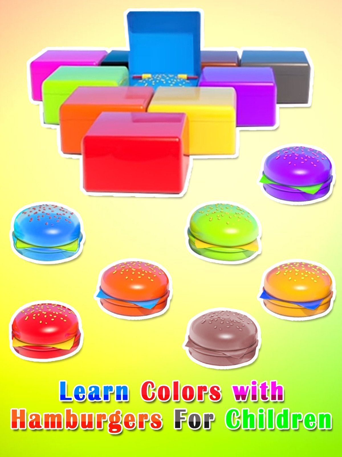 Learn Colors with Hamburgers For Children