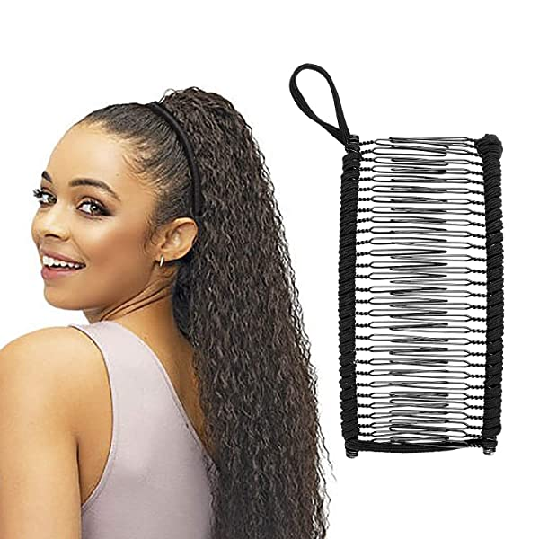 Ralos Banana Clip Comb Tool for Thick Stretch Hair (Tamaño: Large)