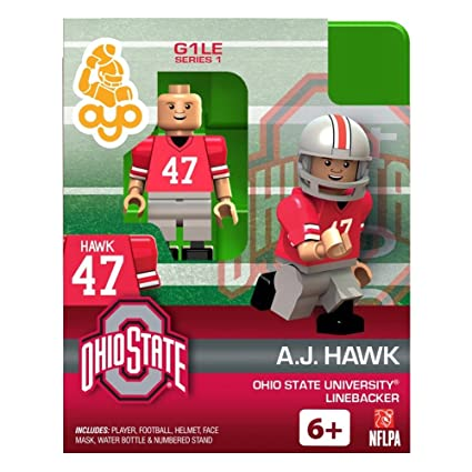 OYO Football Building Brick Minifigure A.J. Hawk Ohio