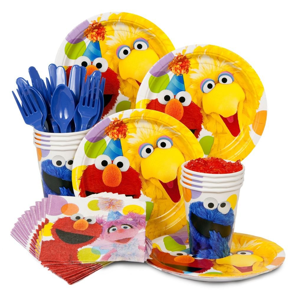 Includes (24) Sesame Street Party Dinner Plates (24) Sesame Street Party Dessert Plates (24) Sesame Street Party Paper Cups 48 Sesame Street Party Lunch ...  sc 1 st  Birthday Wikii - Blogger & Sesame Street Birthday Party Packs | Birthday Wikii