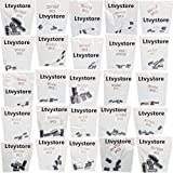 Ltvystore 125PCS 25 Values 16V 25V 50V 1uF to 2200uF Electrolytic Capacitors Assorted Assortment Kit Set Black with Lable Marked Resistance