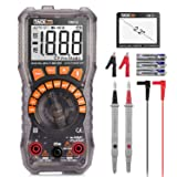 Multimeter, DM10 Electrical Tester 2000 Counts Auto-Ranging Amp Volt Ohm Meter Diode and Continuity Tester Voltage Detector with LCD Display and Backlight (Tamaño: DM10)