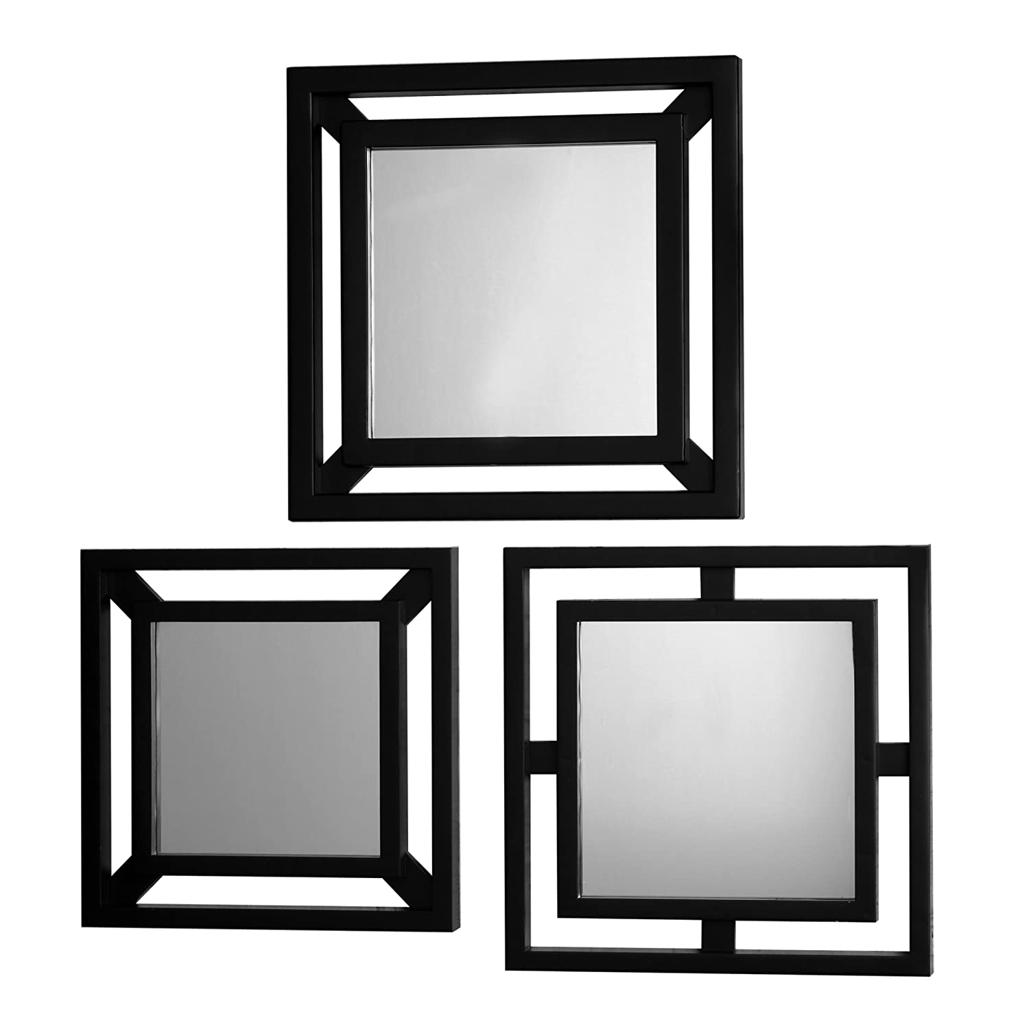 New elements double square mirrors set of 3 wall gift for Square mirror