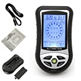 1 Set 8-In-1 Digital LCD Compass Keychain Barometer Altimeter Thermo Temperature Clock Calendar Survival Emergency Life Military Superior Popular Outdoor Camping Waterproof Backpack Map Guide Kits